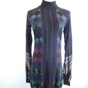 CUSTO BARCELONA Custoline ARGYLE knit Dress 3 L